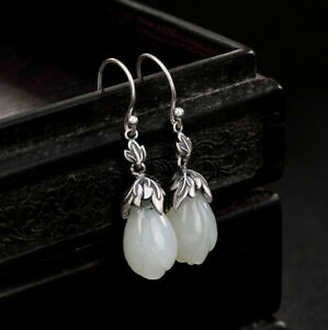 H02-Earring-Bloom-from-White-Jade-with-Leaves-from-Sterling-Silver-925