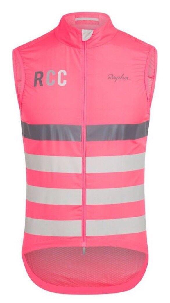 Rapha Hi-Viz RCC PRO TEAM Lightweight Gilet Hi-Viz Rapha Rosa BNWT Größe L 238de7