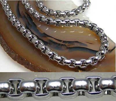Edelstahl Halskette Herren Fatte 5mm Ankerkette 44bis 60cm Männer Collier Silber Gut Verkaufen Auf Der Ganzen Welt