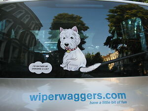DOG-LOVER-039-S-DOG-CAR-STICKER-COLLECTABLE-WITH-WIPER-WAGGING-TAIL-WESTIE