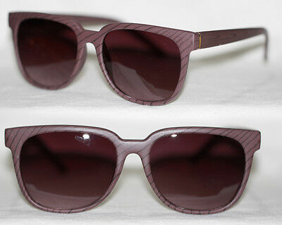 Retro Sonnenbrille medium Holz Optik Look Damen + Herren beige braun grau 843