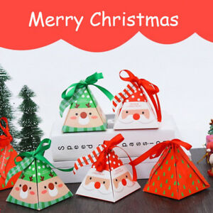 Christmas Gift Bags For Kids.Details About 1 50pcs Christmas Gift Bags Paper Ribbon Bag Kids Xmas Party Candy Box Favor Uk
