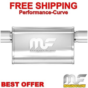 Magnaflow 14211 Polished Stainless Steel 2.5 Offset Oval Muffler
