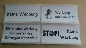 Details Zu Etiketten Briefkasten Aufkleber Stop Keine Werbung Unerwünscht Zeitungen Reklame