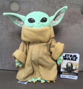 Disney Parks The Child Star Wars The Mandalorian  11/'/' Baby Yoda Plush NEW NWT