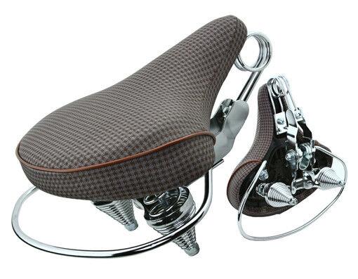 Comfortable Beach Cruisers Bicycle Seats 8016 Web Spring Brown Design-218529