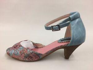 d74b04b97 JOE BROWNS New Ladies Blue Multi Colour Shimmer Ankle Strap Sandals ...