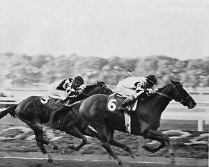 1979-Jockey-Club-Gold-Cup-AFFIRMED-Glossy-8x10-Photo-Steve-Cauthen-Print-Horse