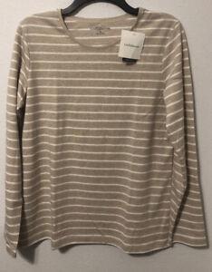 Croft /& Barrow Striped Long Sleeve Blouse Womens Size Medium