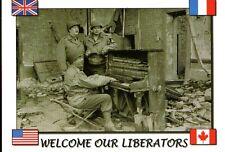 WW2 - CP - Welcome our Liberators - Un air de piano dans les ruines