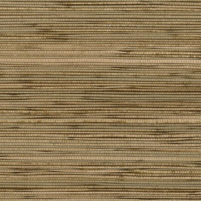 Real Natural Boodle Grasscloth Wallpaper 488-436 brown tan 72 sq ft