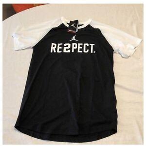 6db83392f843b9 New Nike Dri Fit Jordan Jeter RE2PECT T-Shirt 897833-010 Black Size ...