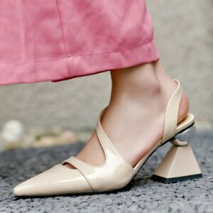 Fashion Women's Pointed Toe High Heels Slingback Causal Party Slip On Shoes New