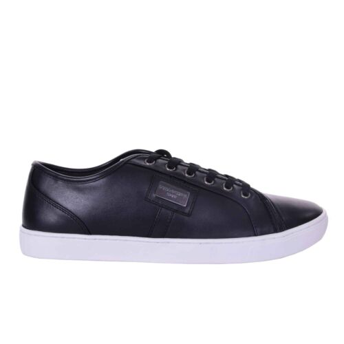 Logo Sport Sneakers Dolce Sneaker 08013 Ny Gabbana Ru Sko Lær Svart U5w8ngxqw