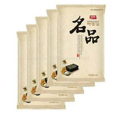 Korean Roasted Green Laver Seaweed for Sushi Gimbab Nori 5 Pcs 5 pack Fast Ship