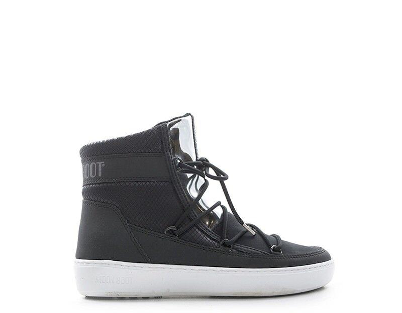 shoes MOON BOOT women Boot  black Pitonato,PU,Tessuto 24102200-001