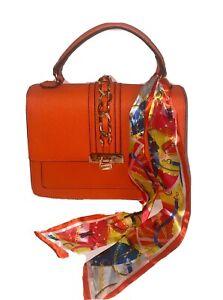 New-ALDO-Women-s-Handbag-ANNIEBROOK-Orange-Crossbody-With-Scarf