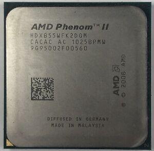 AMD Phenom II X2 B55 3.0 GHz Dual-core CPU Processor HDXB55WFK2DGM Socket AM3
