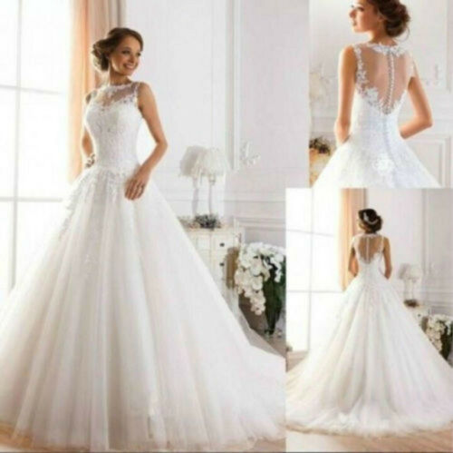 2018 New Whiteivory Wedding dress Bridal Gown Stock Size 6810121416