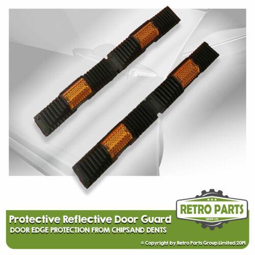 Protector De Puerta Reflectantes Protectora Negro Para Fiat Chip cubiertas de borde