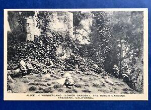 Pasadena-CA-Residence-Alice-In-Wonderland-Mrs-Lillie-Busch-Gardens-Postcard