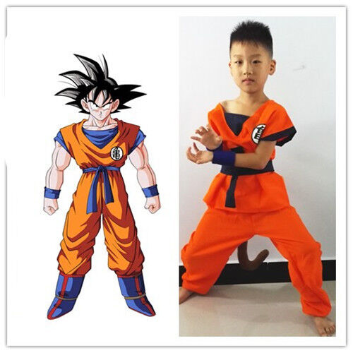 Halloween Party Anime Dragon Ball Goku Kids Cosplay Costume Suit Xmas Clothes