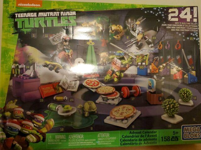 Surprise TMNT Mini Toys Mega Bloks Teenage Mutant Ninja Turtles Advent Calendar
