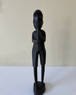 African Statue Ebony The Lovers Male Female Sculpture