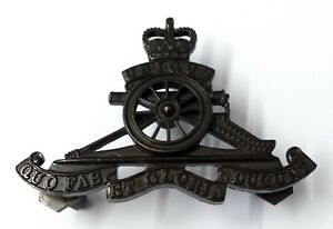 Genuine British Army No2 RA Royal Artillery Bronzed Insignia Pouch Badge GIM36