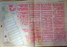 ORIG 1908 G.W. BROMLEY CHELSEA GARMENT DISTRICT MANHATTAN ATLAS MAP