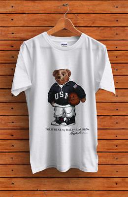 90s POLO Bear Basketball Sport GILDAN Heavy Cotton TShirt