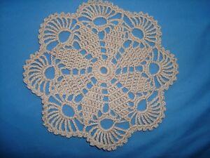 "hand crochet new cotton  doily 7/"" tea cup doily"