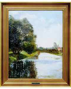 Landscape-view-by-the-well-listed-danish-artist-Rudolf-Bissen