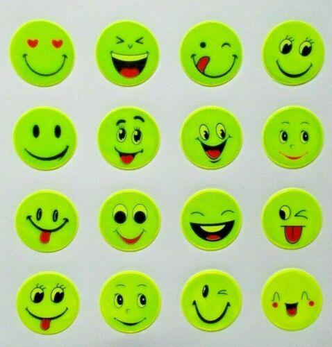 """autoadhesivas 16er set Reflector /""""Smiley/"""" sticker Neon proyectar reflejos"""