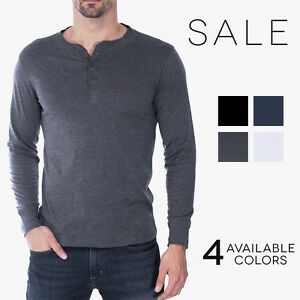 Canvas Henley Mens Long Sleeve Cotton Jersey T-Shirt Bella   ...