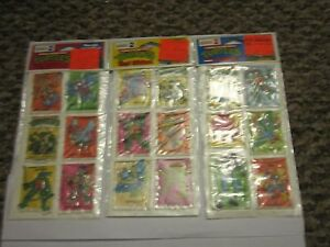 TMNT-Ninja-Turtle-Vinyl-Sticker-Series-2-1988-Lot-of-3-Packages-Vintage-Unused