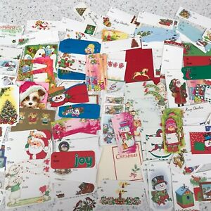 Vintage-Christmas-To-From-Tags-Labels-Cards-Retro-Hallmark-Snowman-Santa-170