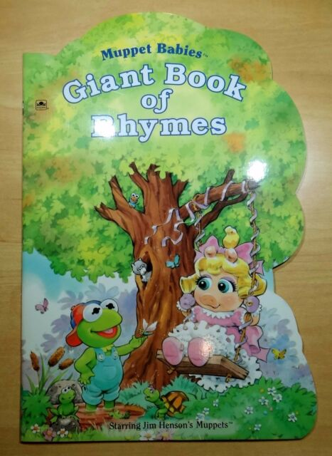 Muppet Babies Giant Book of Rhymes by Tom Brannon 1994 Golden Super-Duper Shape