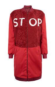 Anya Bomber New Stop £ 1495 Red Cappotto nylon Hindmarch Shearling Long di Runway R4a1U