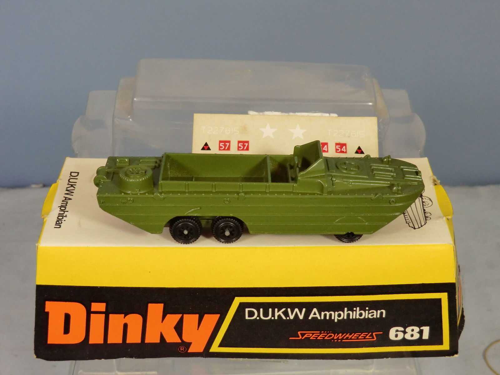 DINKY TOYS MODEL  No 681   DUKW   AMPHIBIAN VEHICLE   MIB