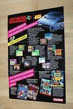 Nintendo Werbung Ad Flyer SNES Super Mario World Donkey Kong The Legend of Zelda