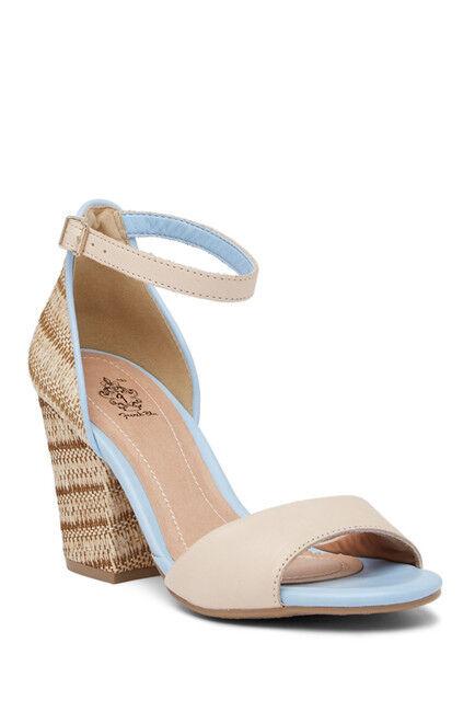 Women's French blue Twilight Block Heel Sandal in in in Almond   bluee Size 8.5, 9.5 3aaeb0