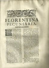 Florentina Pecuniaria di Francesco Maria Bontalenti 1706