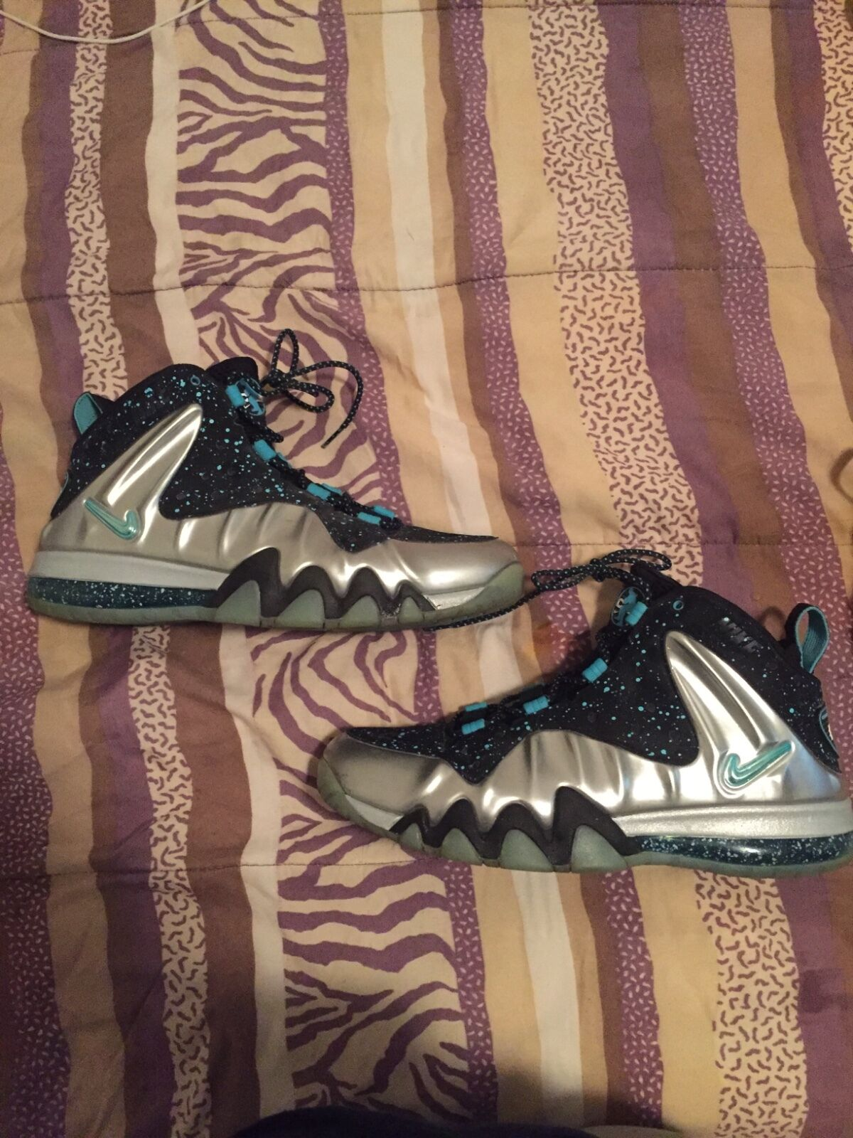 Mens lebron taxi size 13, and Mens size 12 charles barkley foam posite.