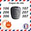 COQUE-cle-plip-peugeot-pour-106-107-206-207-306-307-406-407-806-exct miniature 2
