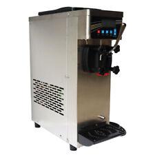110v Single Flavor Soft Ice Cream Machine 10 15lh Ice Cream Maker Lcd Display