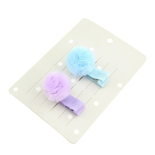 10//20Pc Girls Baby Bow Ribbon Tulle Ball Flower Hair Clips Barrettes Hairpins