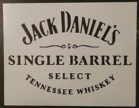 Jack Daniels Daniel's Single Barrel 11 X 8.5 Custom Stencil Fast Free Shipping