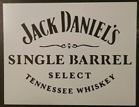 Jack Daniels Daniel's Single Barrel 11 X 8.5 Custom Stencil Fast Free Shipping