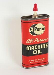 A Penn Handy Oiler Machine Oil Tin Pennsylvania USA 👍